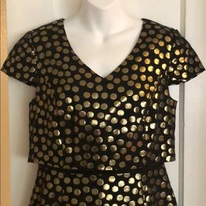 Kensie Dresses - Black and gold Kensie dress